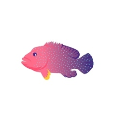 Fish Icon Design Flat Isolated vector image vector image
