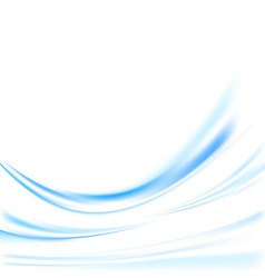 Futuristic blue swoosh lines background vector image