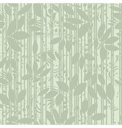 green plant silhouette stripes vector image vector image