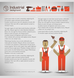 Industrial workers background vector