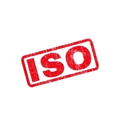 Iso rubber stamp vector