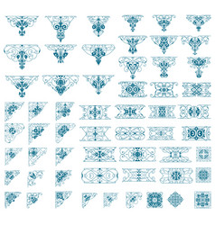 Mega ornamets set vector
