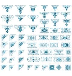 mega ornamets set vector image