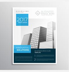 Modern elegant blue brochure design layout vector