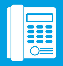 Office business keypad phone icon white vector
