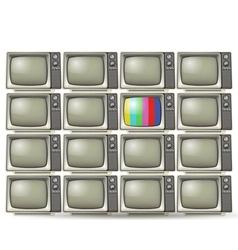 Old tvs vector