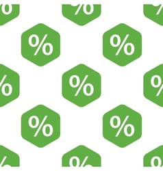 Percent pattern vector image