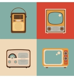 Radio tv picture vector