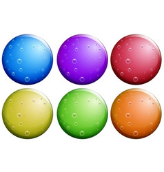 Round bubbles in six colors vector