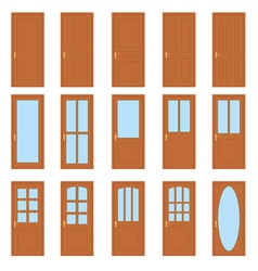 Set of the doors vector image vector image