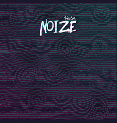 sound noize waves vector image