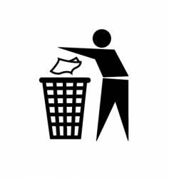 Trash symbol vector