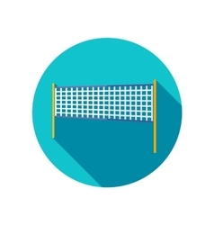 Volleyball net beach sport flat icon vector