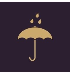 The umbrella bag icon Rain protection symbol vector image