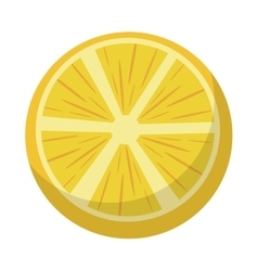 Orange half juicy fruit nature vector