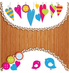 Colorful buntings garlands and paper vector