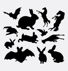 Animal collection silhouette vector