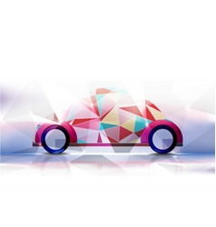 technological geometric colorful classic car vector image
