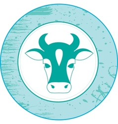 Icon of a cow vector