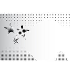 Abstract background halftone dots stars vector