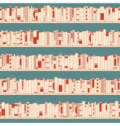 Bookshelf Seamless pattern vector image