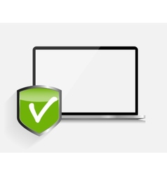 Internet security icon vector