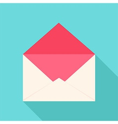 White and pink open envelope vector