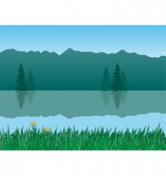 tranquil landscape vector