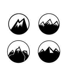 Mountain emblems set vector