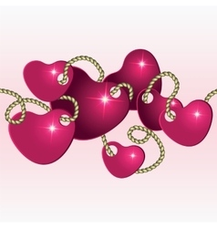 Decoration to the valentines day vector