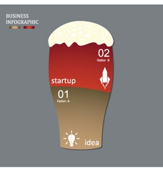 Business startup idea concept with 2 options vector image
