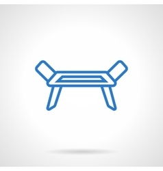 Clotheshorse blue line icon vector