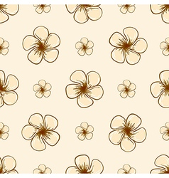 Hand drawn floral tropical seamless pattern vector image