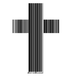 Bar code in a cross vector
