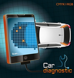 Car diagnostic gadget vector