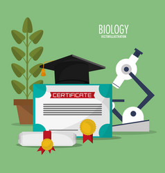 Collection biology school equipment vector