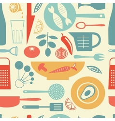 Colorful kitchen pattern vector image vector image