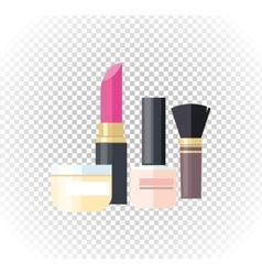 Cosmetic Lipstick Nail Isolated vector image