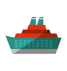 Cruise ocean ship travel maritime shadow vector