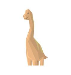 Cute cartoon dinosaur character jurassic period vector