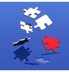 Falling Puzzle vector image vector image