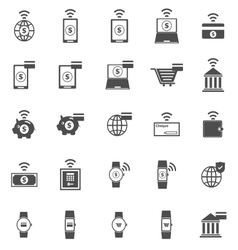 Fintech icons on white background vector