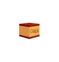 Flat billiard cue stick red chalk block vector