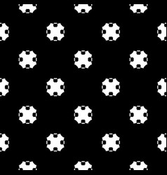 Geometric seamless pattern with carved octagons vector