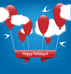 holiday banner vector image