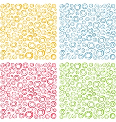 irregular concentric circles pattern set vector image vector image