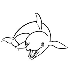 orca or killer whale vector image vector image