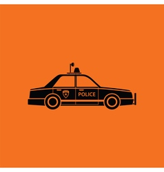 Police car icon vector