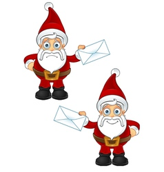 Santa Claus Holding Letter vector image