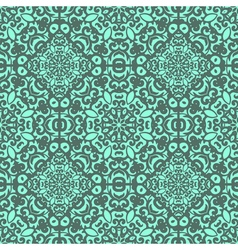 Seamless pattern with bright green ornament tile vector